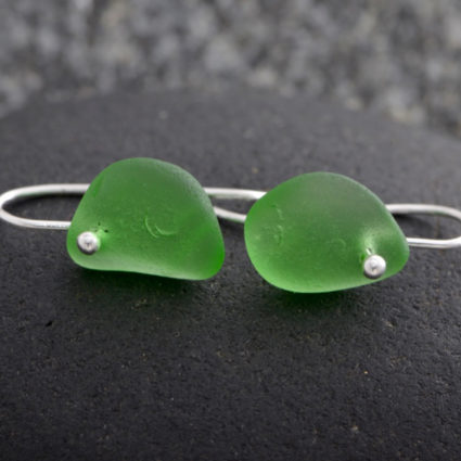 Guernsey sea glass drop earrings